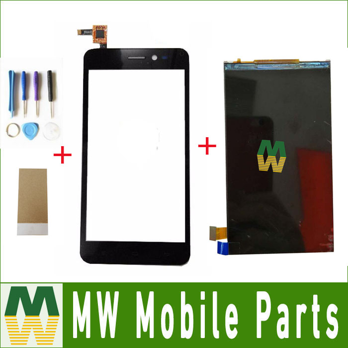 1PC/ Lot For Explay Pulsar Seperate Touch Screen Digitizer And Lcd Screen Replacement Part Black Color with tools+Tape