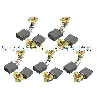 """10 Pcs Spring Type Electric Drill Motor Carbon Brushes 7/<font><b>11</b></font>"""" <font><b>x</b></font> <font><b>17</b></font>/32"""" <font><b>x</b></font> <font><b>1</b></font>/<font><b>4</b></font>"""""""
