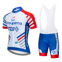 2019 GROUPAMA FDJ CYCLING team JERSEY 12D bike shorts set Ropa Ciclismo MENS summer quick dry pro BICYCLING Maillot pants wear