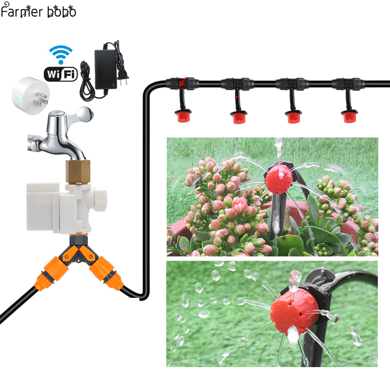 2018 NEW WIFI Garden Irrigator Watering System Drip Irrigation Mobile Phone Control Garden Automatic Watering Timer Autoplay