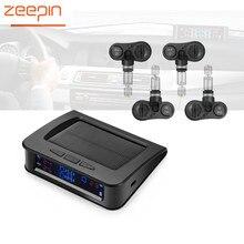 Zeepin C220 автомобильных шин Давление Мониторы Системы Солнечный Мощность tpms шины данных детектор внутренний/внешний Датчики Охранной Сигнализации Системы