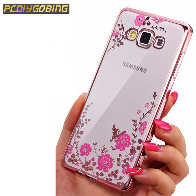 Diamants Rose Conception De Cas Tpu Pour Samsung Galaxy J1 (2016) joFecs