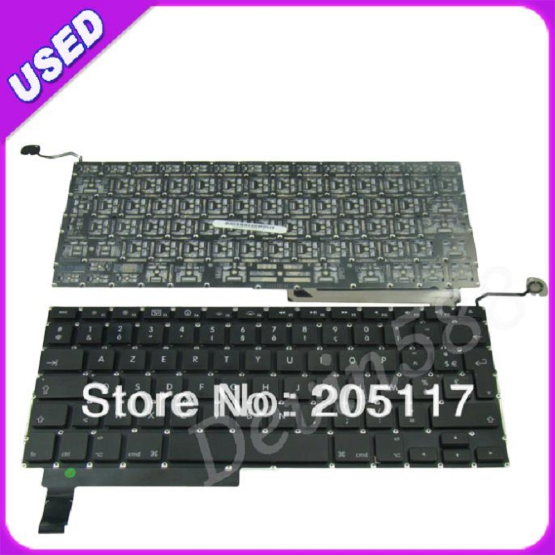 15 LAPTOP KEYBOARD For Macbook Pro Unibody A1286 French FR Keyboard 2009 2010  2011 , WHOLESALE PRICE ! brand new azerty fr french keyboard backlight backlit 100pcs keyboard screws for macbook pro 15 4 a1286 2009 2012 years
