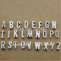 260pcs 11x7x2mm DIY jewelry accessories Antique silver vintage 26 alphabet jewelry charms spacer beads slider