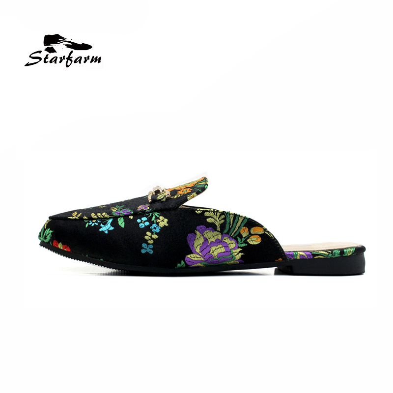 Backless Flat Slip On Shoes