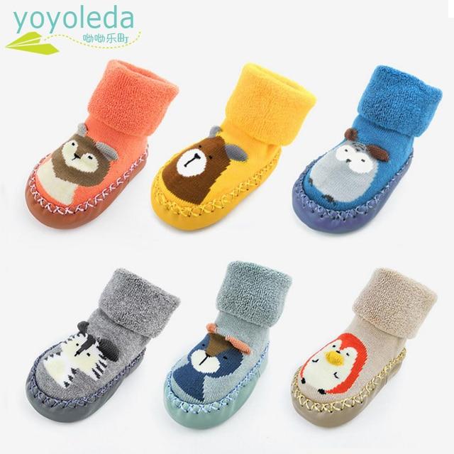 8592603fcd6 Child Infant Baby Warm Socks Non-Slip Toddler Girl Boy Floor Home Shoes  Socks Cotton Knitting Soft Soles Baby Walking Foot Socks