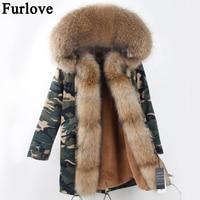 2017 Winter Parka Fur Hood Winter Jacket Women Parkas Natural Real Fur Coat For Women Thick