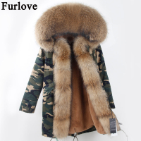 2017 Winter Parka Fur Hood Winter Jacket Women Parkas Natural Real Fur Coat For Women Thick