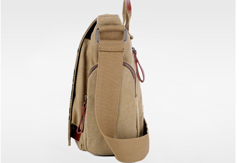 Retro Stytle High Quality Cloth Briefcase Casual Letter Printing Shoulder Bag Durable All-match Commuter Bags Bolso Hombre D822