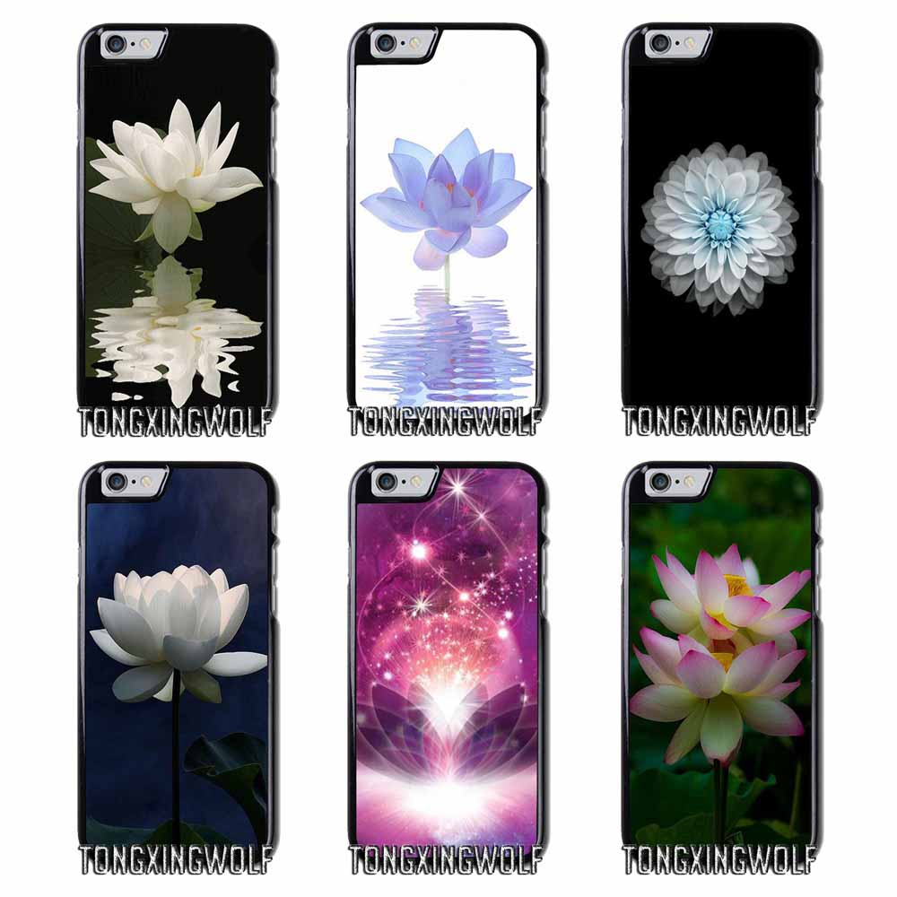 White Lotus Flower Cover Case For Samsung A3 A5 A7 2015 2016 2017