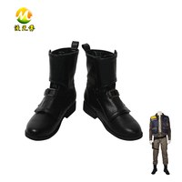 Rogue One A Star Wars Story Cassian Andor Boots Halloween Black Shoes Carnival Accessories For Adult