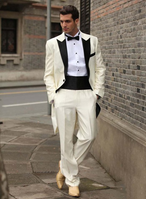 New Arrival Men Custom Groom Prom Suit Mens ivory white Tuxedos Wedding Slim Fit Suit Coat  sc 1 st  AliExpress.com & New Arrival Men Custom Groom Prom Suit Mens ivory white Tuxedos ...