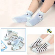 Cute Cartoon 5PCS  Striped Baby Socks Newborn Cotton high quality Boys Girls Sock Toddler 0-12Y clothing Accessories