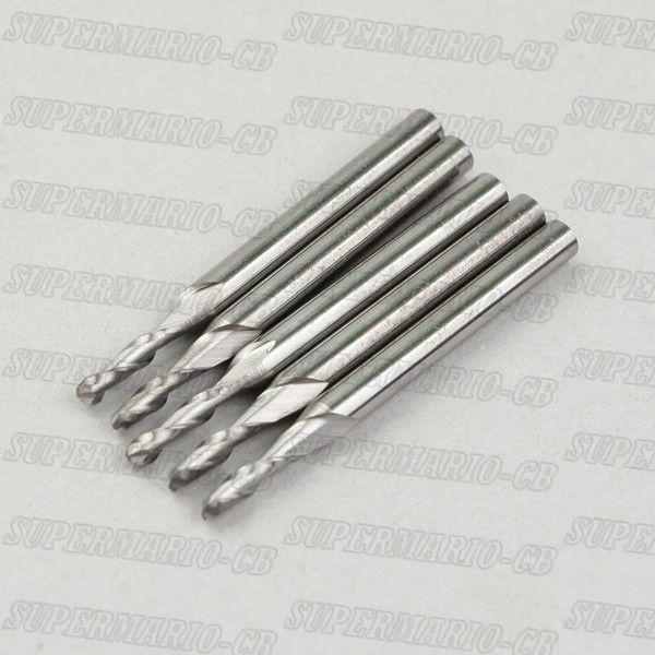 5pcs 2mm 2 Two  Flute Carbide Ball Nose End Mills Hi Quality CNC Router Bit 12mm CEL(2QX3.212x5)  цены
