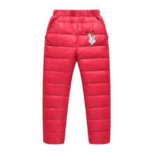 Hot Sale Winter Children's Clothing Kids Down Pants 2017 Baby Boys and Girls Casual Warm Pant Children Down Warm Wear WJ0567