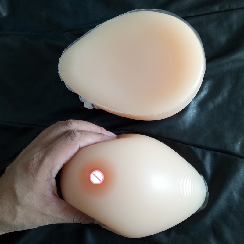 Sz Huge  3600g/pair No Straps Drop Shape Silicone Breast Form Fake False Boobs Shemale Crossdresser User