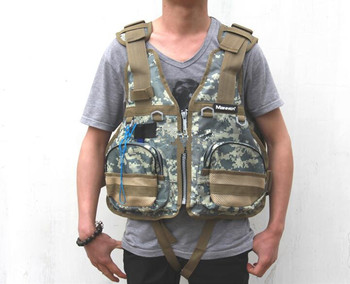 High-grade camouflage adult life jacket that can bear 90kg Sea fishing operations super buoyancy float clothing