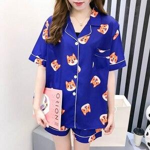 Image 3 - Пижамный комплект Bangtan Boys, летняя пижама с принтом в стиле Харадзюку, кавай, Kpop, аниме, ТАТА в форме сердца, пижама, женская одежда для сна Chimmy Cooky Sleeepwear