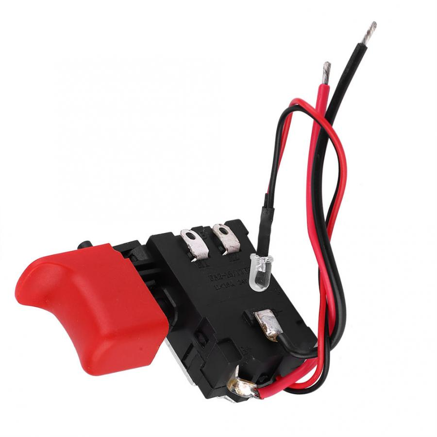 Black Adjustable Switch Speed CW/CCW Electric Drill Trigger Switch 7.2V-24V DC