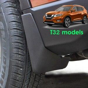 Image 5 - סט יצוק רכב בוץ דשים לניסן X trail Rouge T32 2014 2019 2016 2017 Xtrail Splash משמרות בוץ דש מגני בץ פגוש סטיילינג