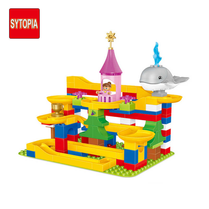 Sytopia Super Slide Marbles Children Safe Building Blocks Big Size Educational Toy For Baby Kid Gift Toy Compatible With Duploe xizai connection blocks cartoon building toy big size kitty assembly educational intelligence blocks melody for children gift