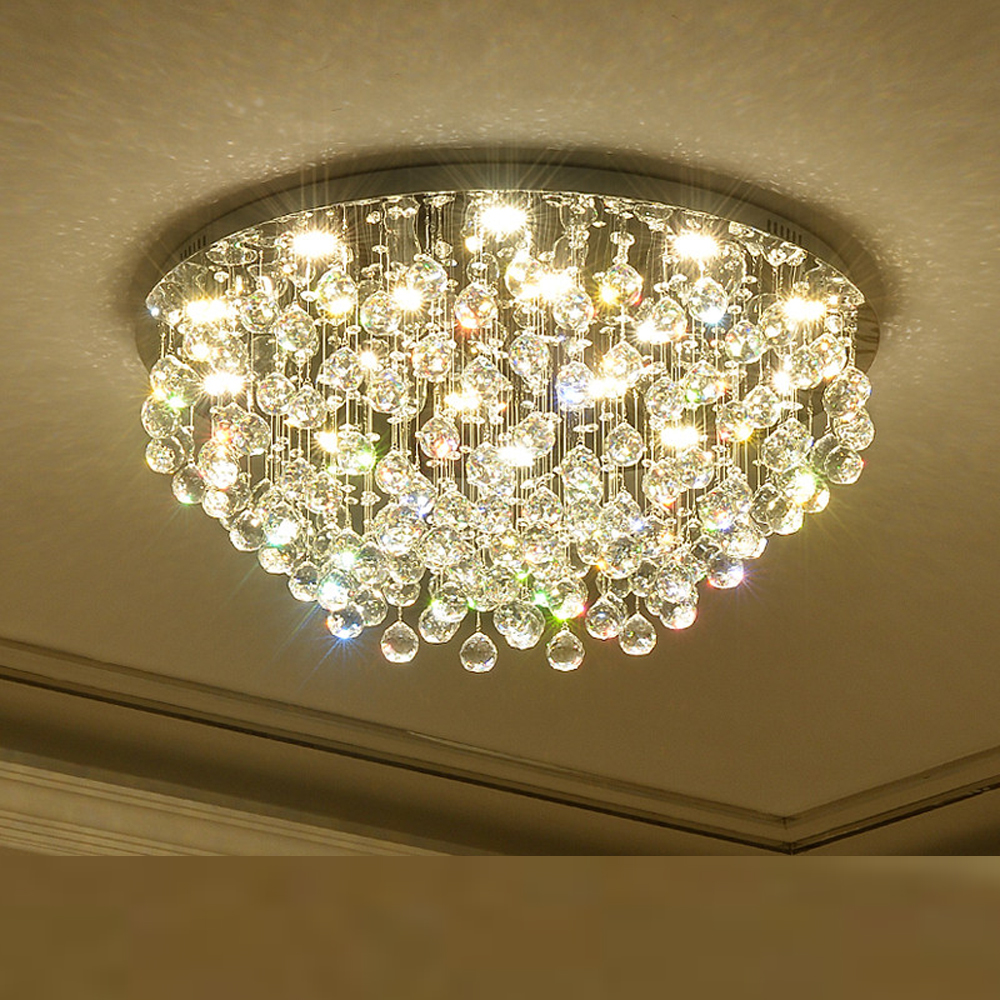 round design modern chandelier lighting crystal lamp AC110V 220V cristal lustre living room bedroom lights luxury design modern crystal chandelier led lamp ac110v 220v lustre cristal foyer chandelier lighting