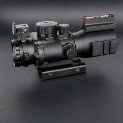 Lente de aumento para rifle airsoft 4x32, lente ótica com reflexo para encaixe 20mm, mira tática para arma rifle, airsoft, sniper, ar arma, arma