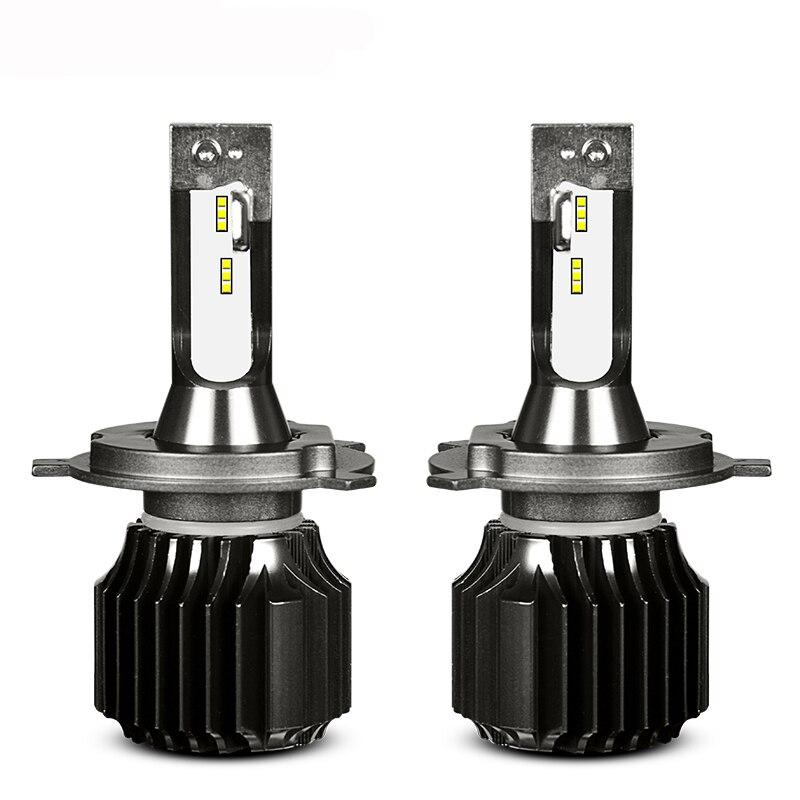 Q6 Fanless Style Car LED Headlight Bulbs H4 Hi Lo H1 H7 H8 H9 H11 9005 9006 HB3 HB4 White 6000K Light CSP LEDs Auto Headlamp