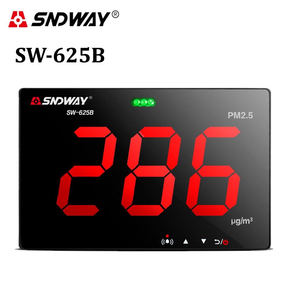 Laser PM2.5 détecteur Mur monté Air Qualité Moniteur/Gaz moniteur/analyseur De Gaz/outil De Diagnostic Stocker des données PC connecter via USB