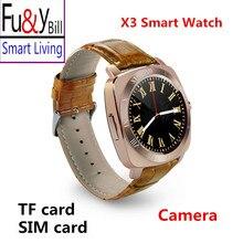 X3 todo pantalla smart watch cámara del teléfono puede ser insertado en la tarjeta telefónica síncrono motion recordó pantalla táctil reloj