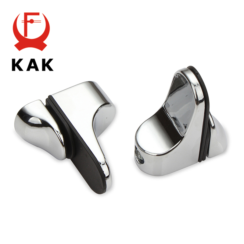 KAK Zinc Alloy Adjustable Glass Clamps Glass Plated Brackets Chrome Alloy Shelf Holder Support Clamp Holder For Glass Shelves