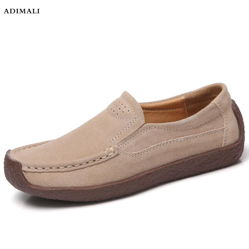 Women Ballet Flats Shoes Genuine Leather Slip on ladies Shallow Moccasins Casual Shoes Female Summer Loafer Shoes Women цена