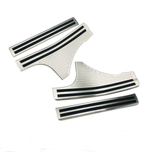 Car Stainless Steel Pedal Door Sill Scuff Plate Cover Inner Built-in Threshold Part 4pcs For Subaru Forester SK 2018 2019 цена в Москве и Питере
