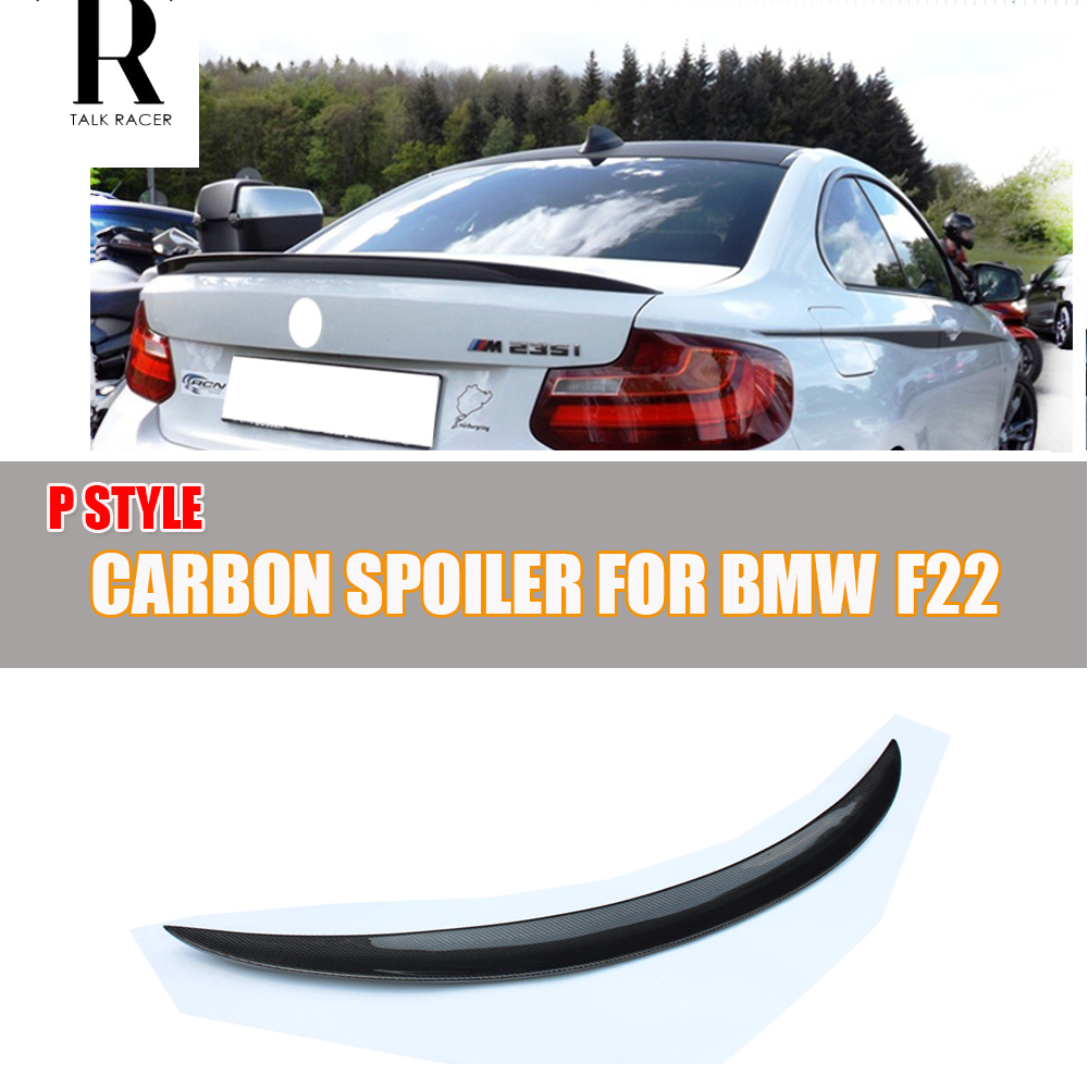 F22 F23 F87 P Style Carbon Fiber Rear Wing Spoiler for BMW F22 F23 220i 228i M235i F87 M2 2014 2015 2016 f22 performance carbon fiber spoiler f23 f87 m2 wing rear trunk lip for bmw 2 series 2014 2016 2 door coupe m235i 218i 220i
