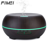 Fimei Essential Oil Diffuser 200ml Air Humidifier Wood Grain Aroma Diffuser Mist Maker Color Changing LED