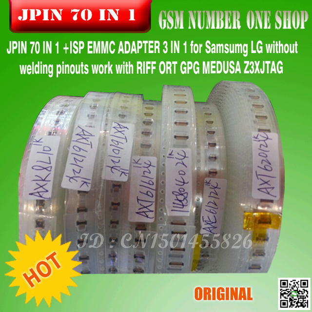 JPIN 70 IN 1 +ISP EMMC ADAPTER 3 IN 1 for Samsumg LG without welding pinouts work with RIFF ORT GPG MEDUSA /JTAG