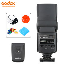GODOX TT520 II Flash Speedlite dengan Build-In 433 MHZ Sinyal Nirkabel + Kain Cover Kit untuk Canon Nikon pentax Olympus DSLR Kamera(China)