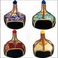 Men's Mongolian Folk Dance headdress minority costumes Hat Mongolian wrestler's Stage performance hat