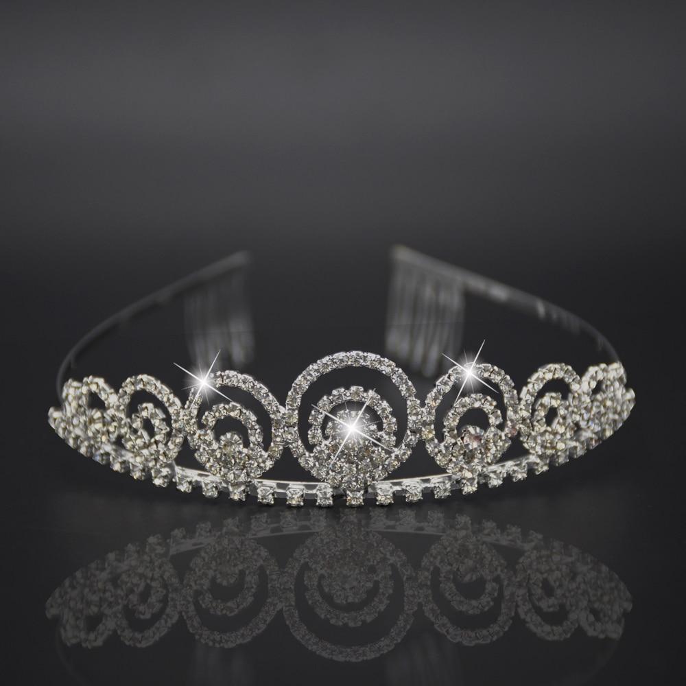 Silver headdress font b luxurious b font hair accessor Hair Comb Princess Crown Bridal font b