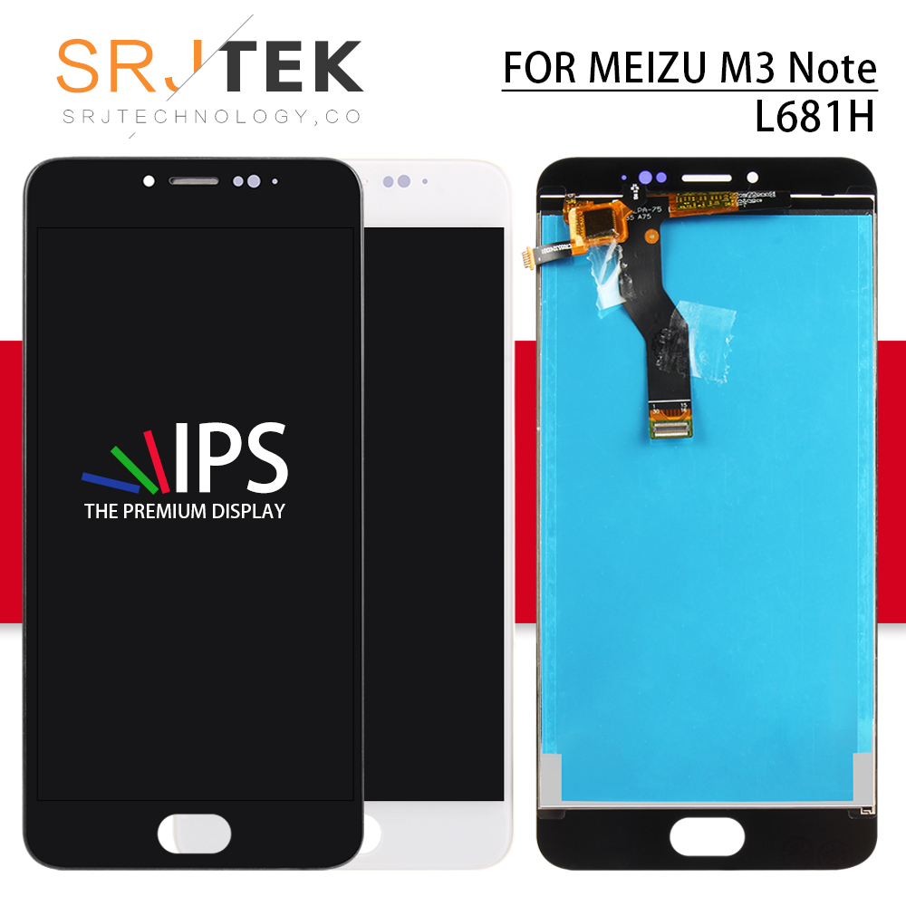 Srjtek for Meizu M3 Note L681H LCD Panel Touch Screen Digitizer Sensor Glass Full Assembly With Frame for Meizu M3 Note DisplaySrjtek for Meizu M3 Note L681H LCD Panel Touch Screen Digitizer Sensor Glass Full Assembly With Frame for Meizu M3 Note Display