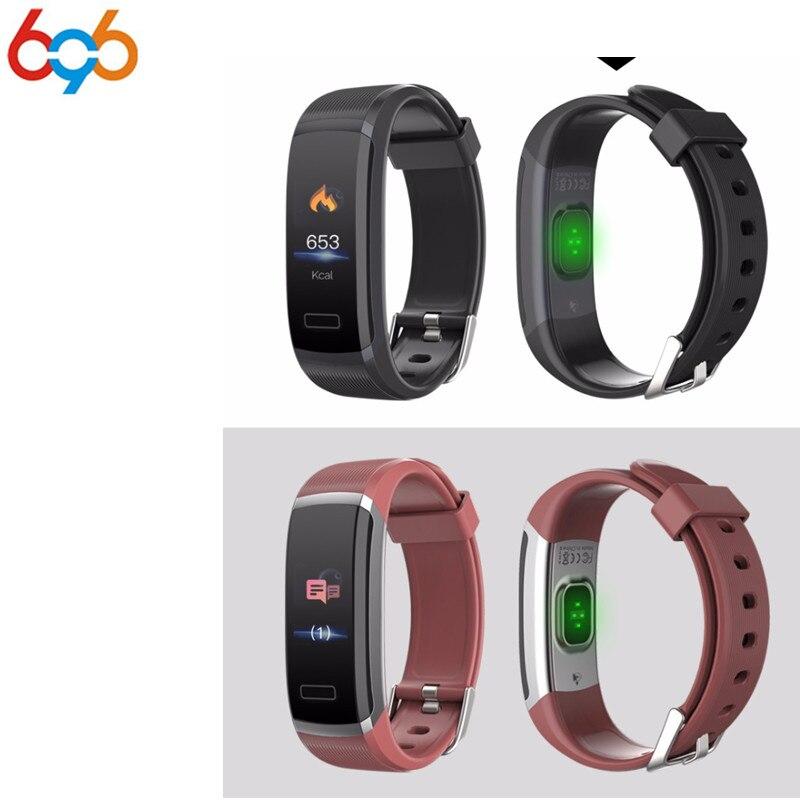 696 Color Screen Smart Bracelet GT101 Waterproof 24 hours Heart Rate Monitor Fitness Tracker Bluetooth Smart Watch for Sport