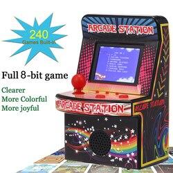 BL-883 juegos Retro consola de juegos portátiles de mano de 8 bits máquina de juegos de Arcade incorporado 240 juegos clásicos de regalo para niños niño