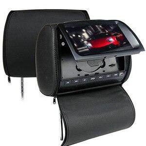 Image 3 - 2 個 9 インチ車のヘッドレストモニター Dvd プレーヤージッパーカバー TFT 液晶画面サポート IR/FM Transmitte /USB/SD/スピーカー/ゲーム
