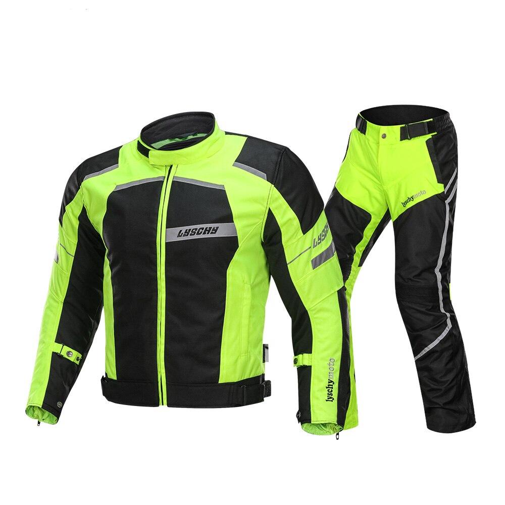 LYSCHY veste de Moto équitation été hiver Detechable imperméable respirant maille veste Moto pantalon costume Moto équipement de protection
