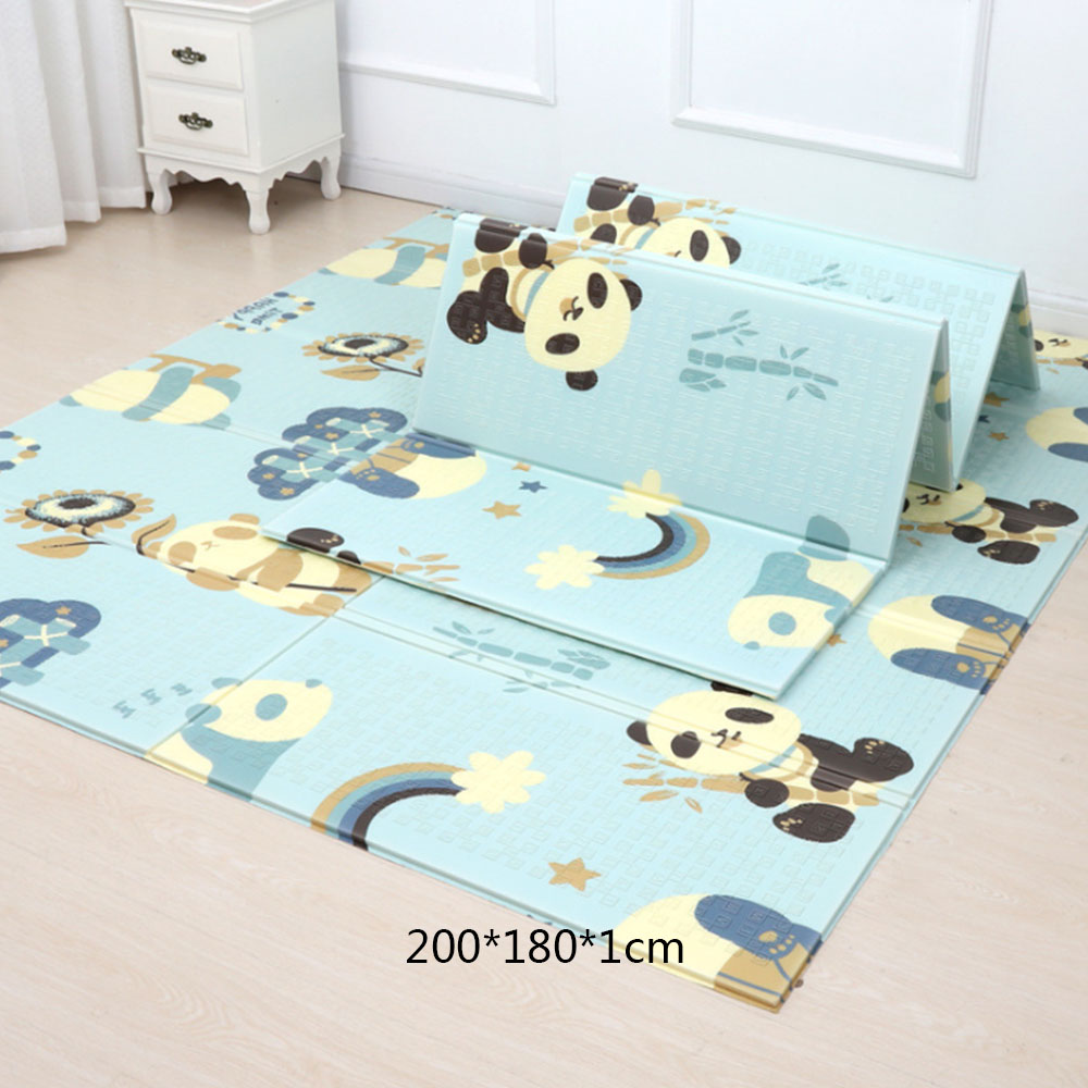 200*180cm Cartoon Baby Play Mat Foldable Xpe Puzzle Children's Mat Baby Climbing Pad Kids Rug Speelkleed Baby Games Mats