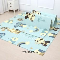 200*180cm alfombra de juego para bebés de dibujos animados plegable Xpe puzle para niños alfombra de escalada para bebés alfombra para niños alfombrillas de juegos para bebés speelkle