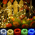 8M 80LED LED Copper Wire Strip String Light Lamp For Bedroom Wedding Party US