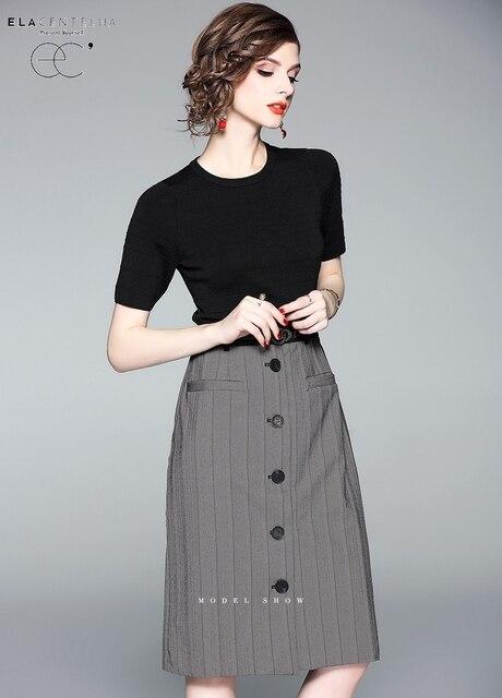 49af777486 ElaCentelha Women Office Lady Dress Short Sleeve Knee Length O-Neck Collar  Summer Women s Pencil Dress New