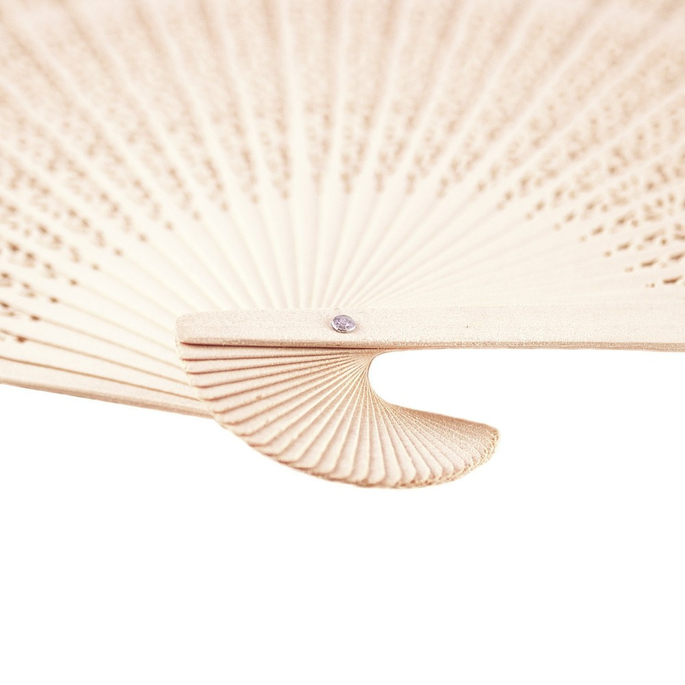 120Pcs Free Shipping Sandalwood Folding Hand Fan Favor With Flower ...