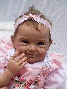 Image 4 - NPK חדש הגעה 55 CM באיכות גבוהה מגנטי מוצץ מציאותי בעבודת יד תינוק Alive בנות יפה סיליקון Reborn bebes בובה